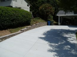 driveway with EML wall with grey Heritage caps